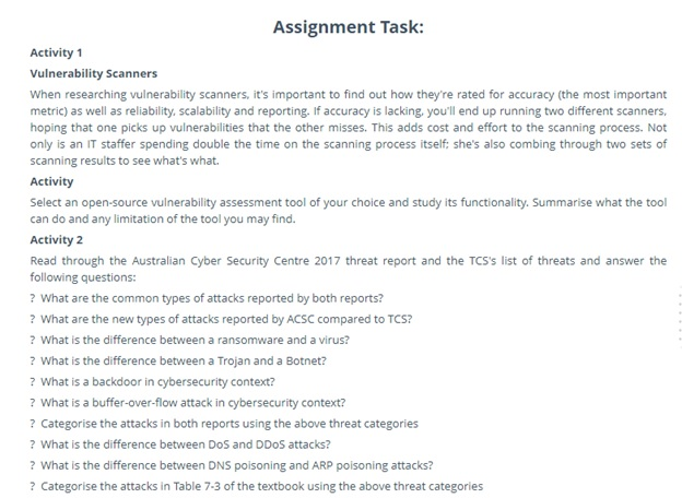 e-commerce security issue assignment