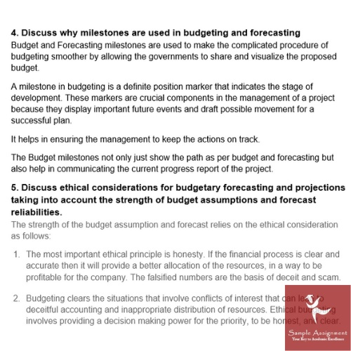 economics forecasting assignment sample