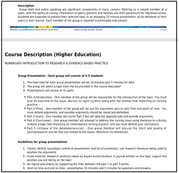 education research assignment sample