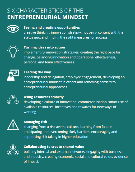 Entrepreneurial Mindset characteristics