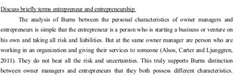 Entrepreneurship Assignment Help