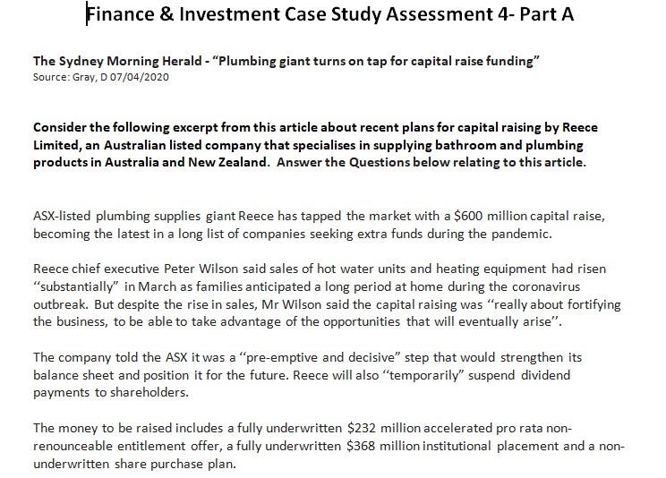finance case study help