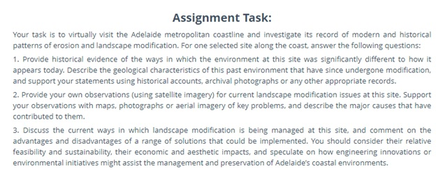 geologists assignment question