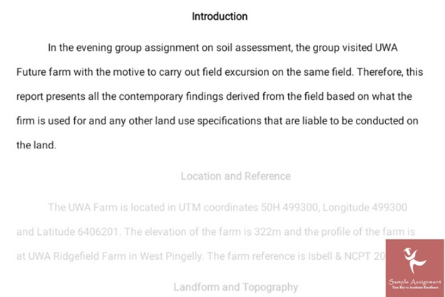 geologists assignment sample online