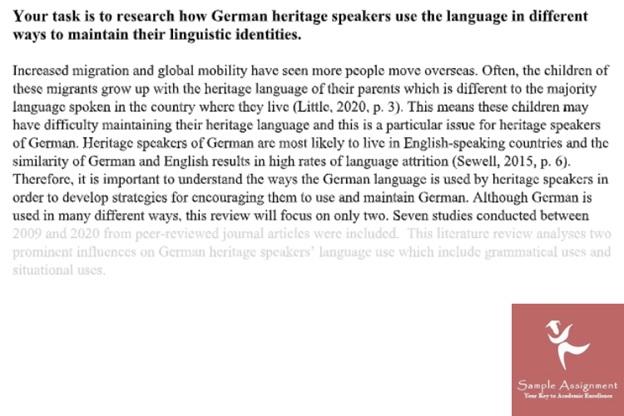 german studies assignment experts