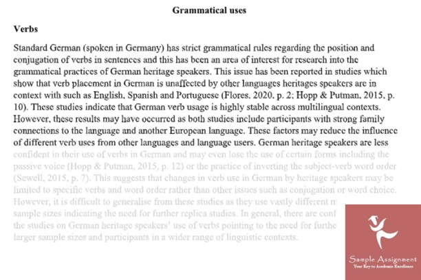 german studies assignment online