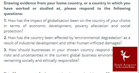 globalisation assignment sample