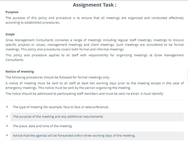 grow management consulting assignment question