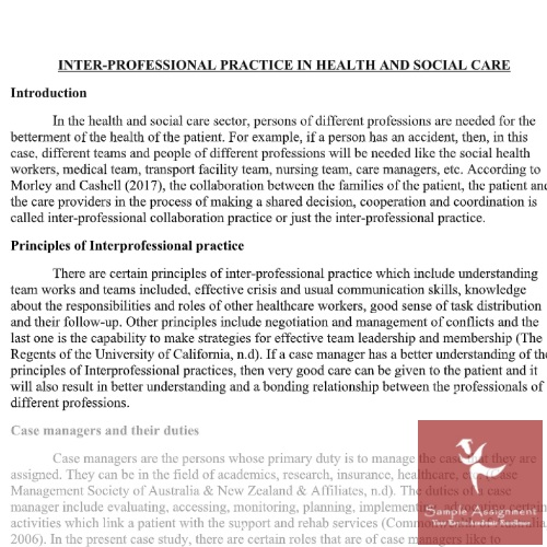 health and social care assignment services