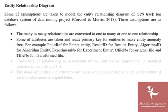 help with data modelling assignment