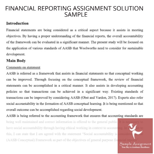 help with financial reporting assigment