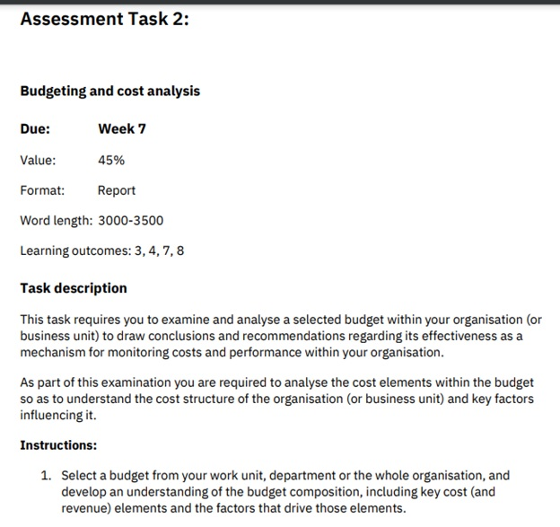 hnd managing financial resources decisions question sample