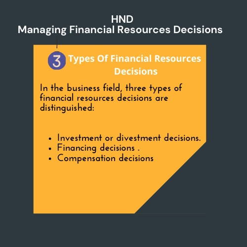 hnd managing financial resources decisions assignment help