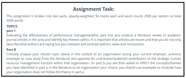 human resources strategic planning assignment sample