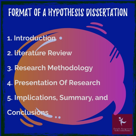 dissertation format of hypothesis