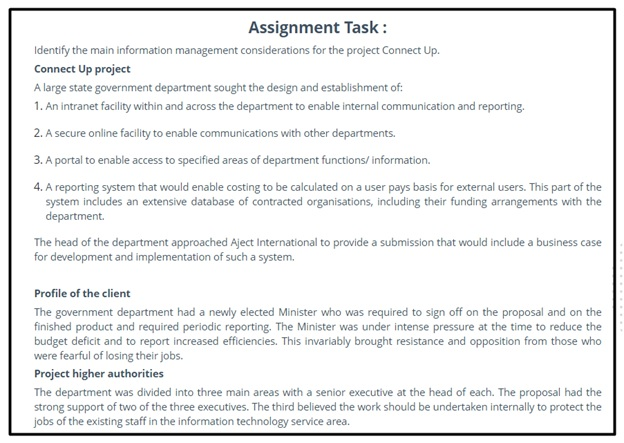 information management assignment ballarat