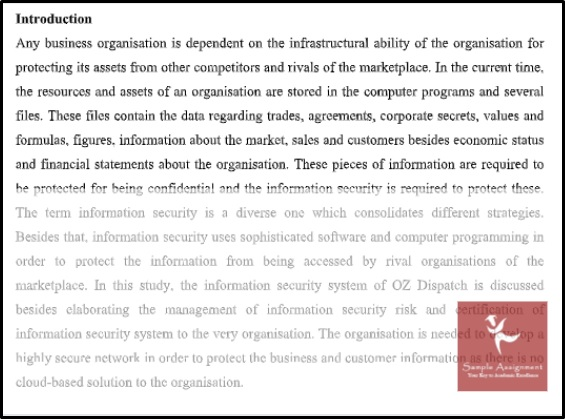 information security assignment sample