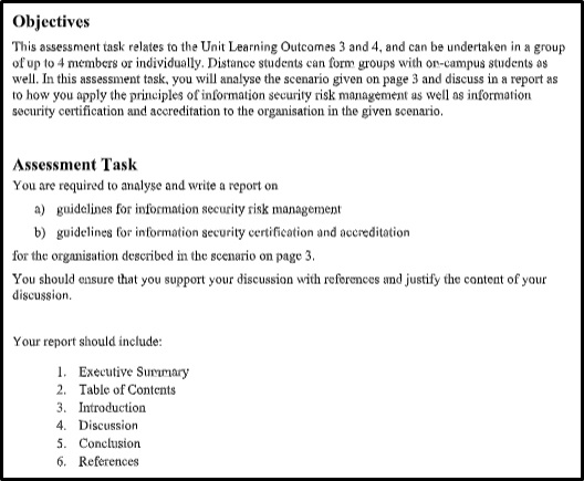 information security assignments