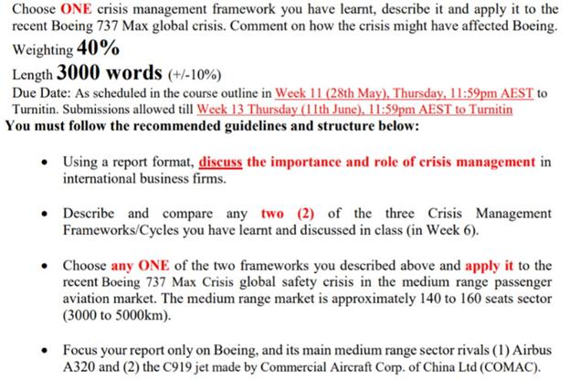 international risk assignment example