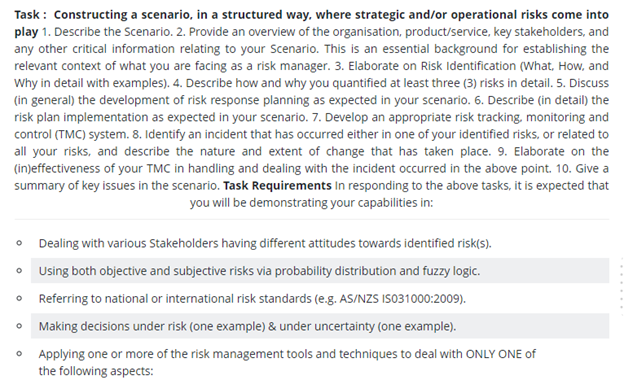 international risk assessment sample