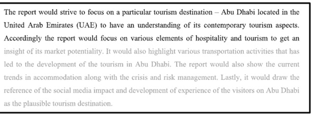 international hotel and tourism management assignment sample