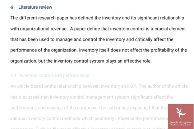 inventory management assignment answer