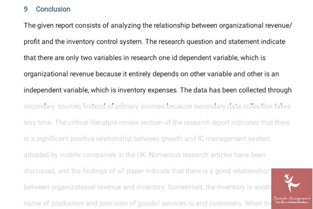 inventory management assignment help