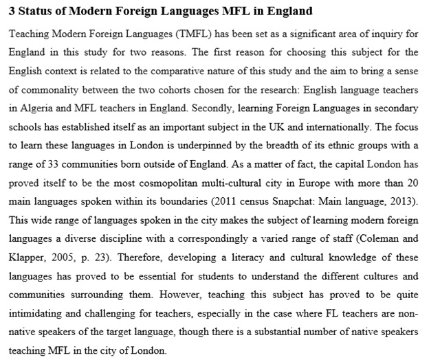 language teaching assignment sample