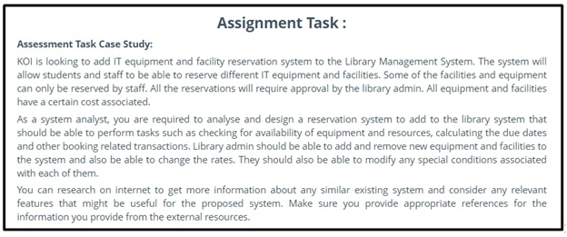 library management assignment task