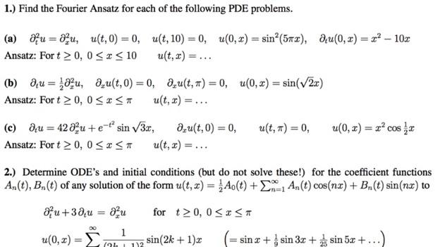 linear algebra assignment