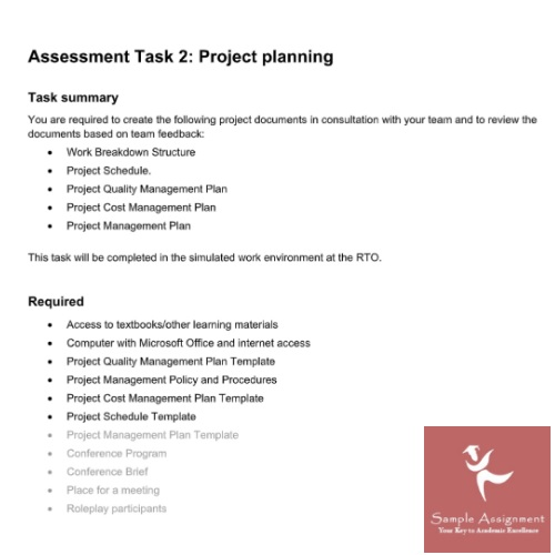 Manage Project Quality Assignment Help