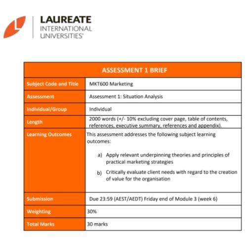 marketing analysis assignment help