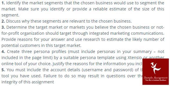 marketing communication assignment sample
