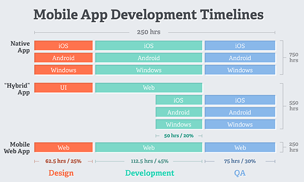 mobile application developer timeline