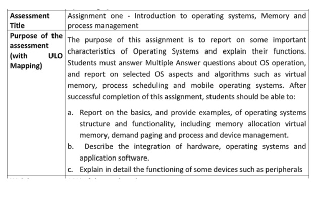 mobile operating systems assignment help