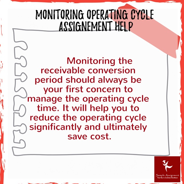 monitoring operating cycle assignment