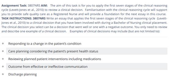 nursing assignment sample online
