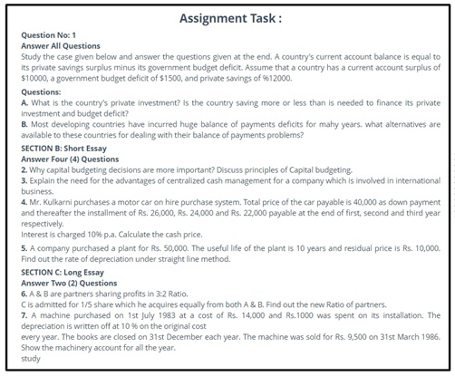 objectives cash management assignment