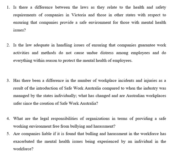 occupational safety law assignment question