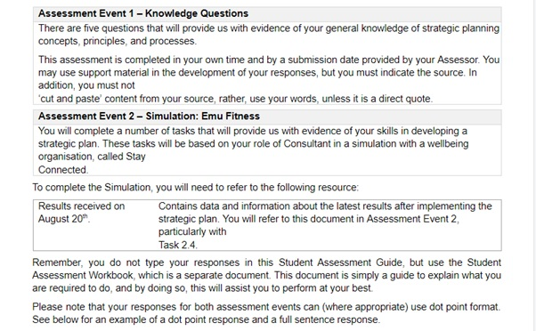 outline assignment question sample