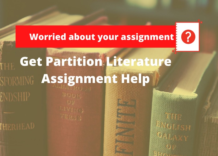 Partition Literature Assignment Help