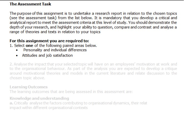 personality development assignment help