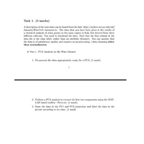 principal component analysis assignment