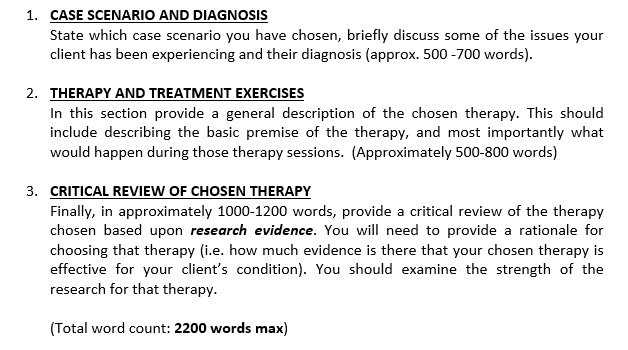 psychology case study help