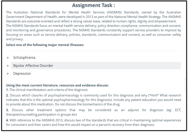 psychopharmacology assignment sample online