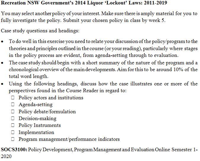 Public Policy Assignment Help