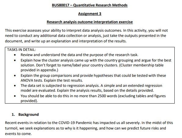 quantitative method assignment solution