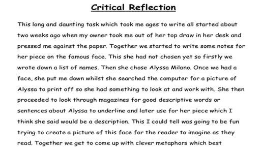 reflective eportfolio assignment help