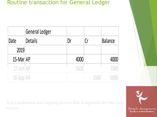 routine transaction for general ledger