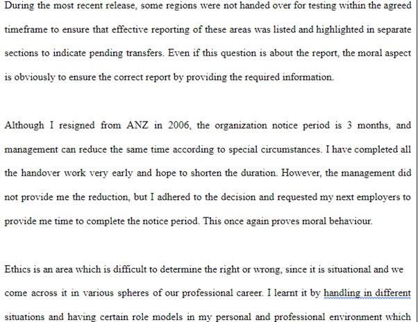 rpl report writing sample